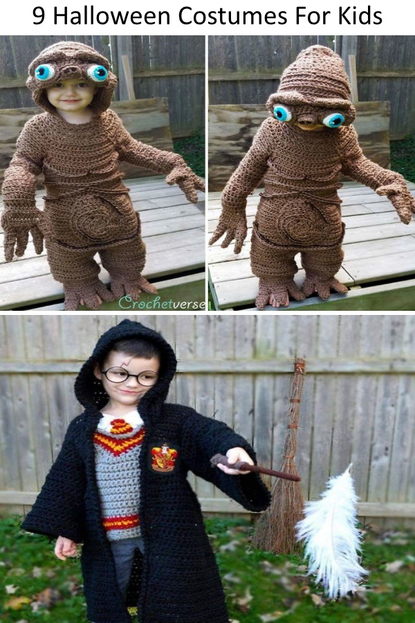 9 Halloween Costumes That I Crocheted For My Kids My Home Inspiration