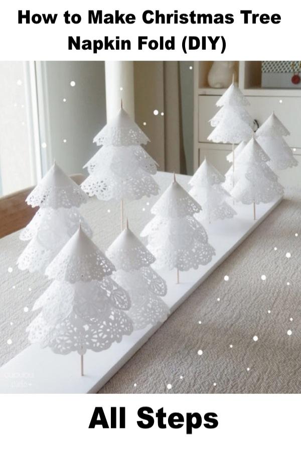 Christmas Tree Napkin Folding Steps.How To Make Christmas Tree Napkin Fold All Steps My Home