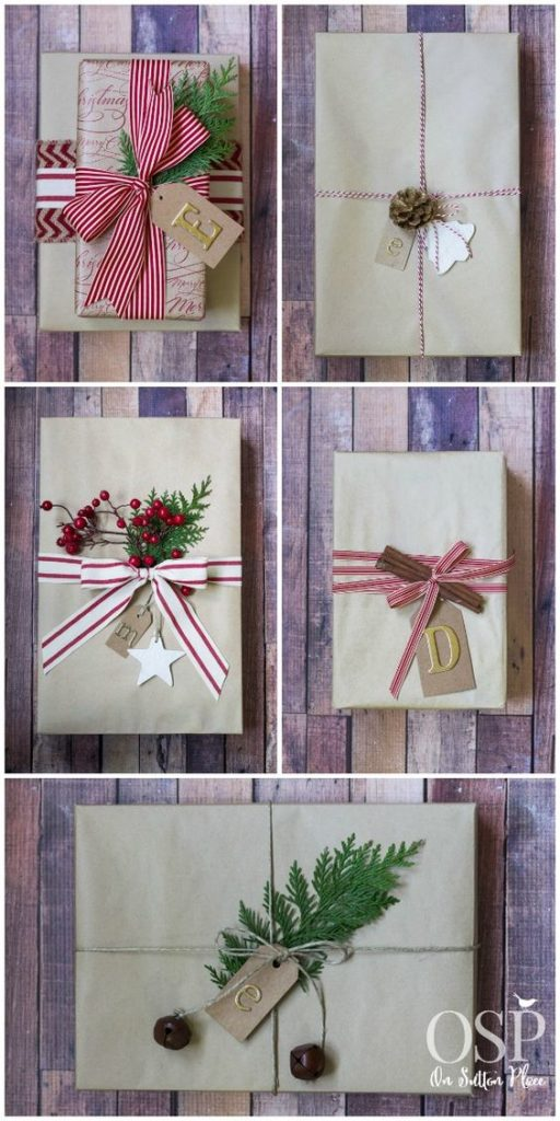 How to Wrap a Christmas Gifts (30 beautiful ideas)23