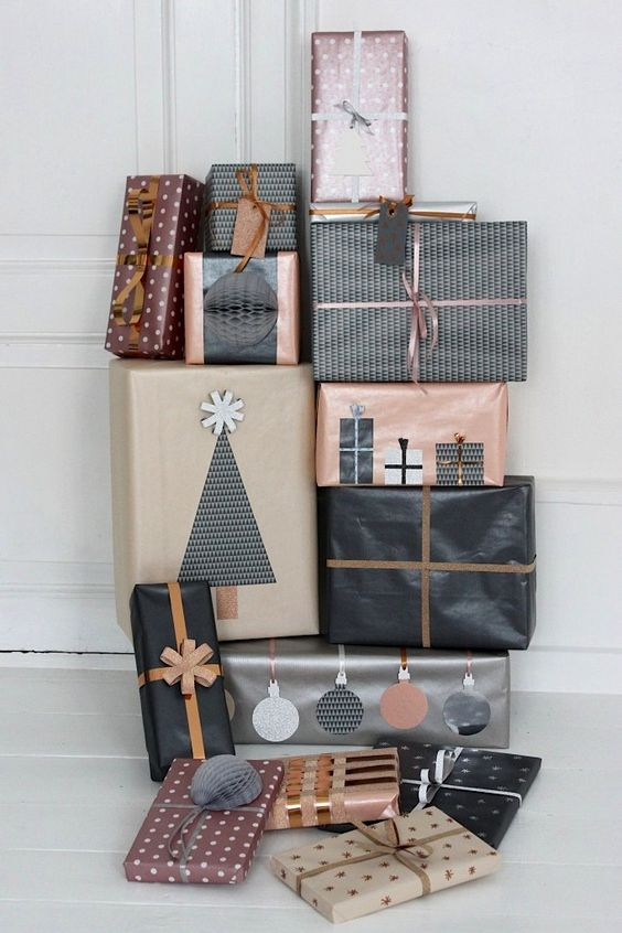 How to Wrap a Christmas Gifts (30 beautiful ideas)5