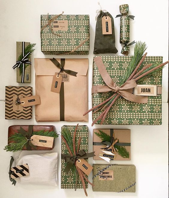 How to Wrap a Christmas Gifts (30 beautiful ideas)9